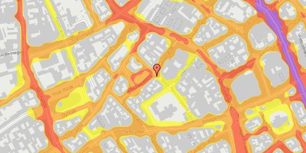 Trafikstøjkort på Gråbrødretorv 1, 3. , 1154 København K