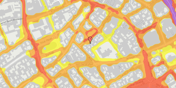 Trafikstøjkort på Gråbrødretorv 17, 4. , 1154 København K