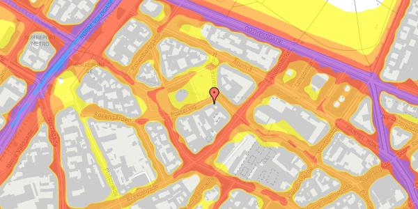 Trafikstøjkort på Hauser Plads 12, 3. , 1127 København K