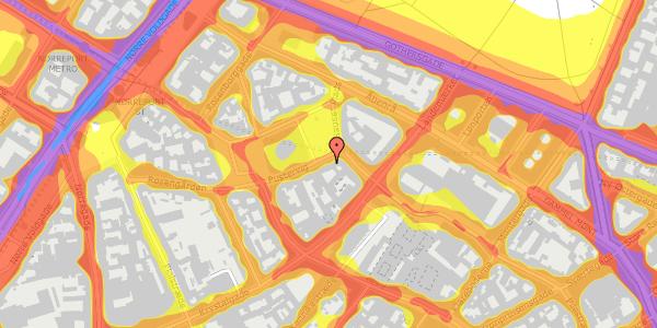 Trafikstøjkort på Hauser Plads 12, 4. , 1127 København K