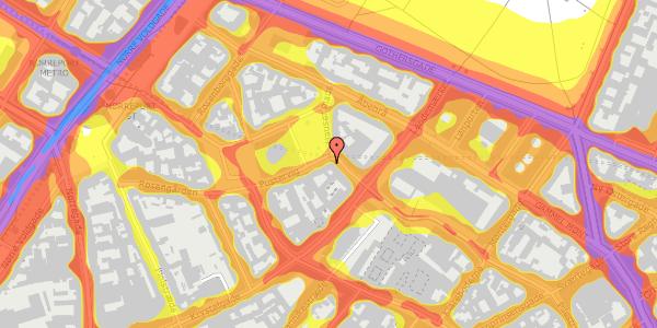 Trafikstøjkort på Hauser Plads 14, kl. , 1127 København K
