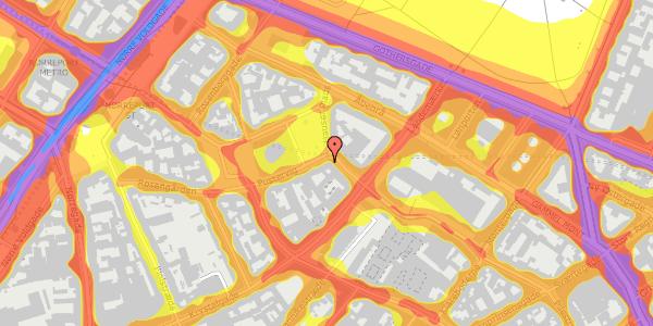 Trafikstøjkort på Hauser Plads 14, 3. , 1127 København K