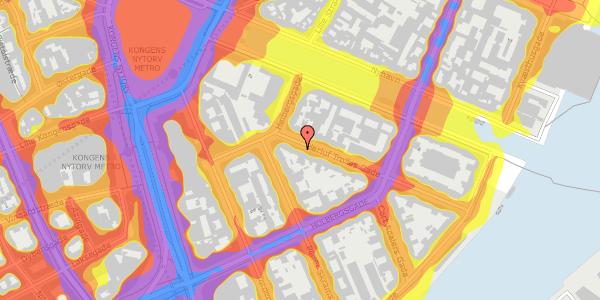 Trafikstøjkort på Herluf Trolles Gade 4, 3. , 1052 København K
