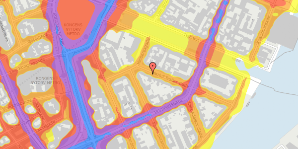 Trafikstøjkort på Herluf Trolles Gade 4, 4. , 1052 København K