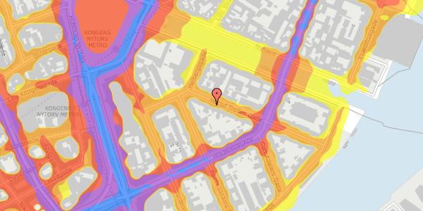 Trafikstøjkort på Herluf Trolles Gade 6, 2. tv, 1052 København K