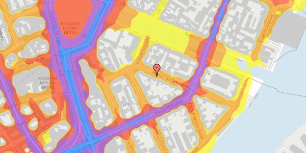 Trafikstøjkort på Herluf Trolles Gade 6, 4. tv, 1052 København K