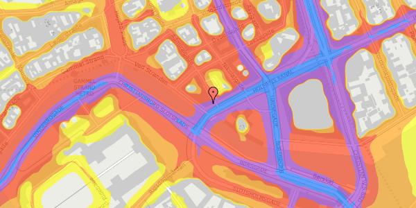 Trafikstøjkort på Holmens Kanal 42, 3. , 1060 København K