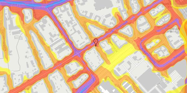 Trafikstøjkort på Istedgade 25, 2. tv, 1650 København V