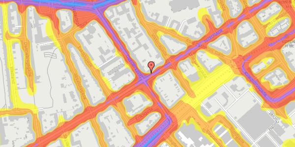Trafikstøjkort på Istedgade 38, 4. tv, 1650 København V