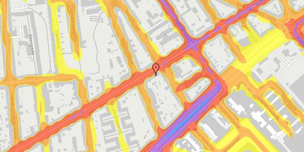 Trafikstøjkort på Istedgade 43B, 1. tv, 1650 København V