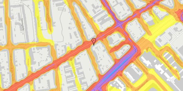 Trafikstøjkort på Istedgade 45, 2. tv, 1650 København V