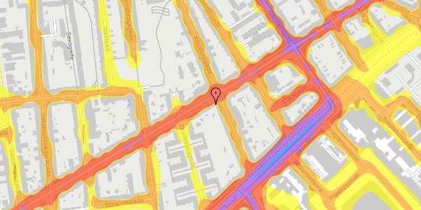 Trafikstøjkort på Istedgade 49, 2. tv, 1650 København V