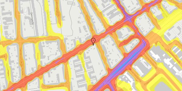 Trafikstøjkort på Istedgade 51A, 1650 København V