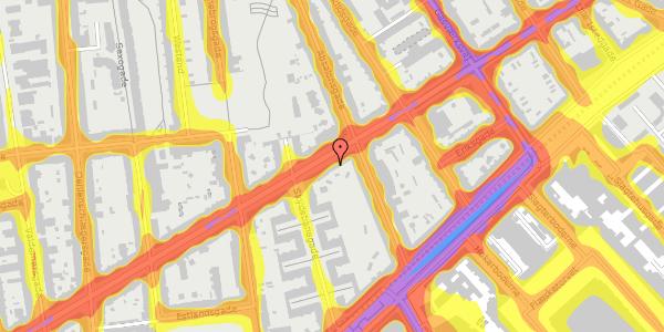 Trafikstøjkort på Istedgade 51B, 1. tv, 1650 København V