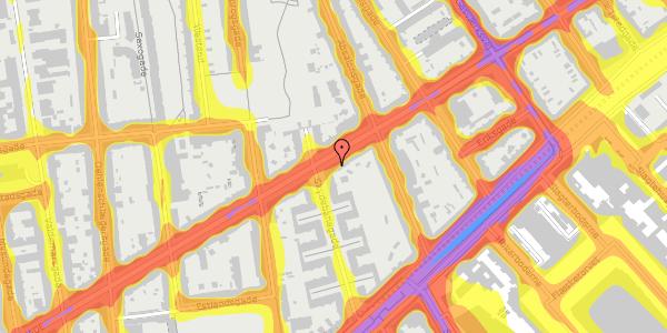 Trafikstøjkort på Istedgade 55, 2. tv, 1650 København V