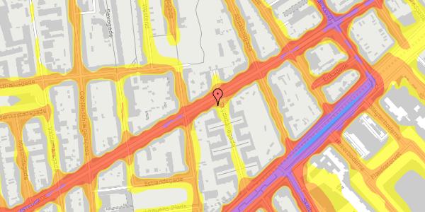 Trafikstøjkort på Istedgade 57, 2. tv, 1650 København V