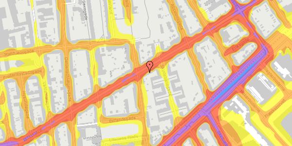 Trafikstøjkort på Istedgade 61, 2. tv, 1650 København V
