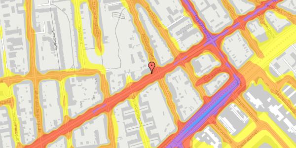 Trafikstøjkort på Istedgade 62, 1. tv, 1650 København V
