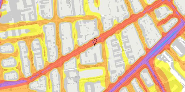 Trafikstøjkort på Istedgade 71, 3. tv, 1650 København V