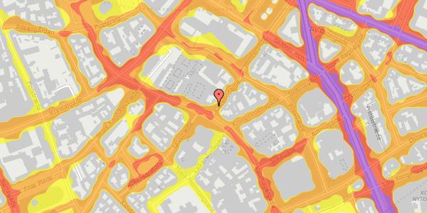 Trafikstøjkort på Klareboderne 1, 1115 København K
