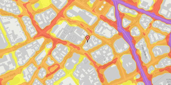 Trafikstøjkort på Klareboderne 8, kl. , 1115 København K