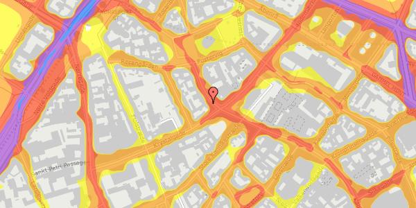 Trafikstøjkort på Købmagergade 55, kl. tv, 1150 København K