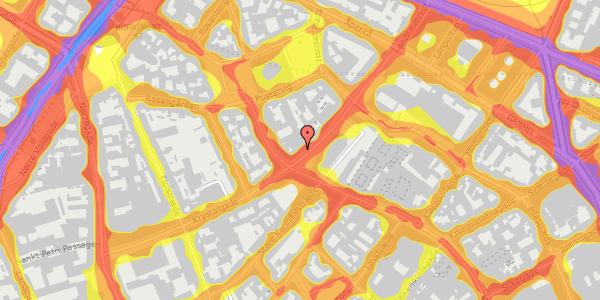 Trafikstøjkort på Landemærket 3, 2. tv, 1119 København K