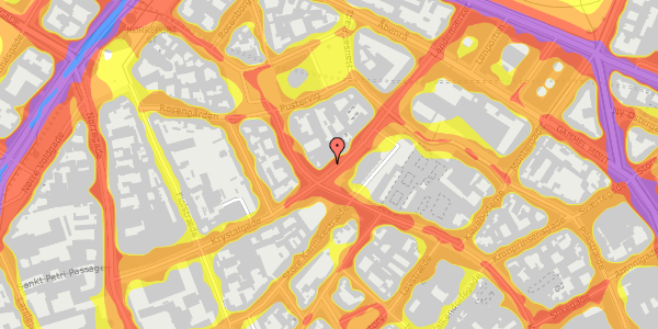 Trafikstøjkort på Landemærket 3, 3. tv, 1119 København K