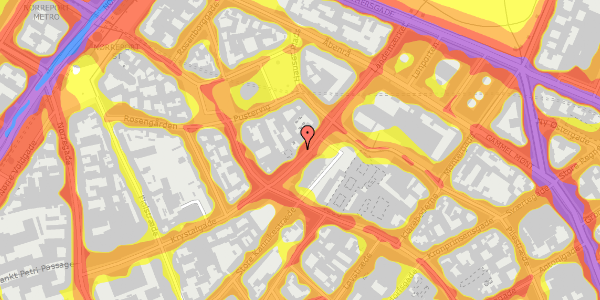 Trafikstøjkort på Landemærket 9, kl. 2, 1119 København K