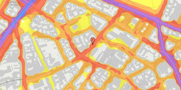 Trafikstøjkort på Landemærket 9, 1. 2, 1119 København K
