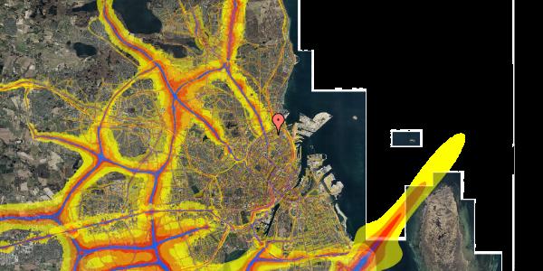 Trafikstøjkort på Lange-Müllers Gade 11, st. tv, 2100 København Ø