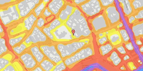 Trafikstøjkort på Niels Hemmingsens Gade 3, 1. tv, 1153 København K