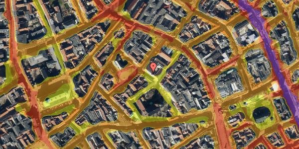 Trafikstøjkort på Niels Hemmingsens Gade 24, st. , 1153 København K