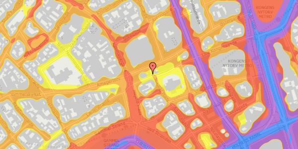 Trafikstøjkort på Nikolaj Plads 24, 3. , 1067 København K