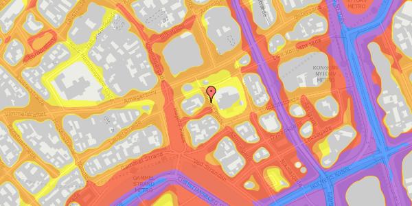 Trafikstøjkort på Nikolaj Plads 26, 2. tv, 1067 København K