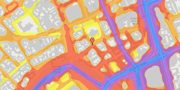 Trafikstøjkort på Nikolaj Plads 34, 3. mf, 1067 København K