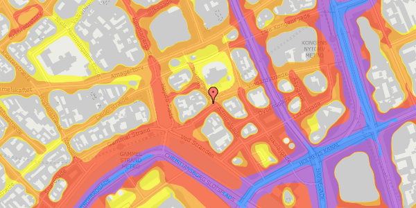 Trafikstøjkort på Nikolaj Plads 34, 4. mf, 1067 København K