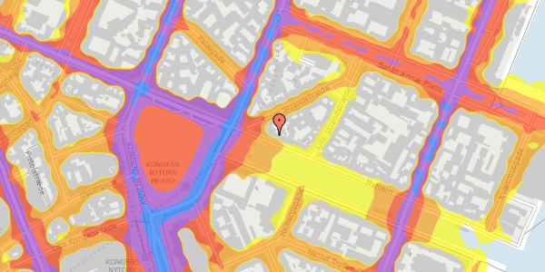 Trafikstøjkort på Nyhavn 5, 2. , 1051 København K