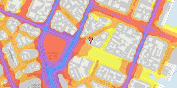 Trafikstøjkort på Nyhavn 5, 3. , 1051 København K