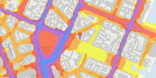 Trafikstøjkort på Nyhavn 5, 4. , 1051 København K