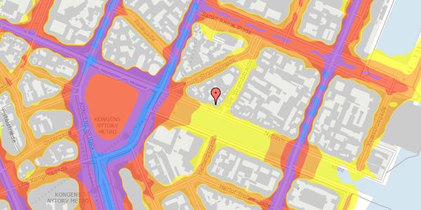 Trafikstøjkort på Nyhavn 13, kl. , 1051 København K