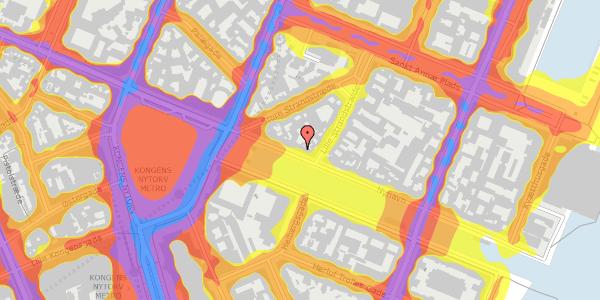Trafikstøjkort på Nyhavn 13, 3. , 1051 København K