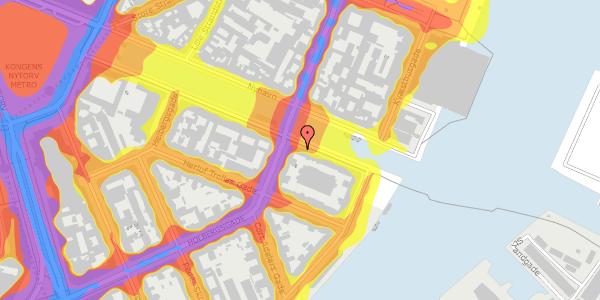 Trafikstøjkort på Nyhavn 38, 2. tv, 1051 København K