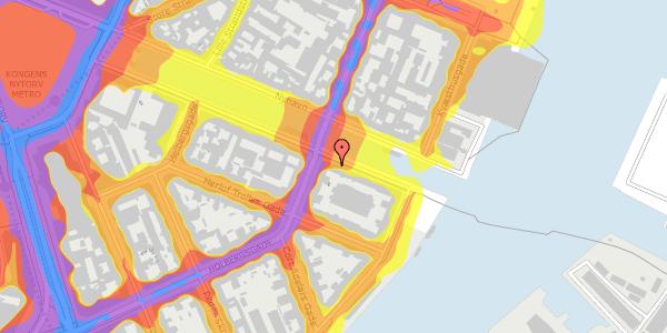 Trafikstøjkort på Nyhavn 38, 3. tv, 1051 København K