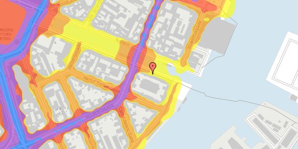 Trafikstøjkort på Nyhavn 40, 1. tv, 1051 København K