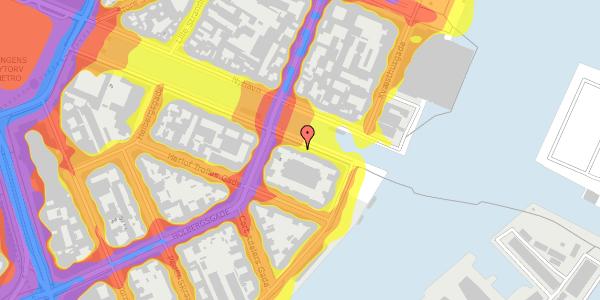 Trafikstøjkort på Nyhavn 40, 3. th, 1051 København K