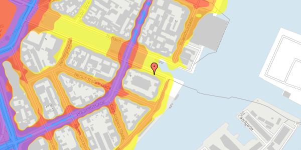 Trafikstøjkort på Nyhavn 42B, 2. th, 1051 København K