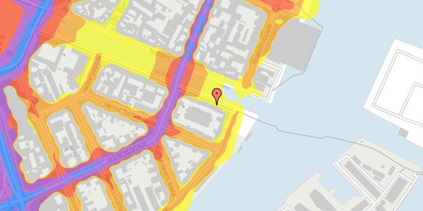 Trafikstøjkort på Nyhavn 42B, 3. th, 1051 København K