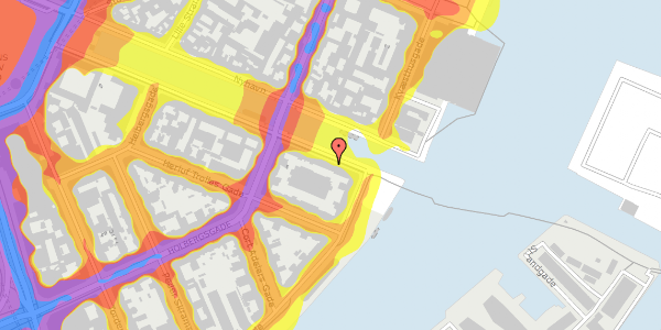 Trafikstøjkort på Nyhavn 42B, 5. tv, 1051 København K