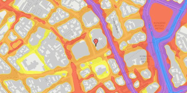 Trafikstøjkort på Pilestræde 8, kl. , 1112 København K
